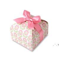 جديد ورقة كب كيك مربع الأزياء كوكي هدية التفاف مربعات التعبئة البسكويت الحلوى حالة المطبخ خبز حزب اللوازم EWD6646