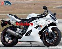Para Yamaha YZF-R6 YZF R6 2008 2009 2010 Fairings YZF600 R6 YZF 600 R6 2008-2016 08-16 Bodyworks de motocicleta branca (moldagem por injeção)