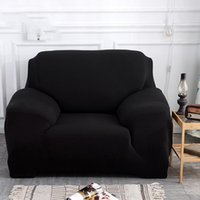 Chair Covers Elastic Sectional Couch Cover Anti-dirty Modern Pure Color Polyester Single Two Three Four Seat Sofa Flexible Stretch
