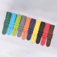 22mm Waterproof Rubber Silicone Watch Band Strap PinBuckle Watchband Strap for Panerai Watch PAM Man PAM00616 + Tools