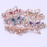 Kristal Kelebek Saç Klipleri Tam Rhinestone Kelebekler Tokalar Kadın Kızlar Şapkalar Takı