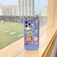 아이폰 12 11 프로 Promax x XS 최대 7 8 플러스에 대한 작은 행성 괴물 액체 실리콘 고무 전화 케이스