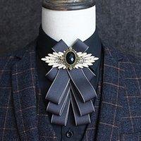 Farben Multi-Layer Anzug Krawatte Kleid Hemd Kragen Blume Bräutigam Groomsman Hochzeitsfeier Zeremonie Cravat Bug Ties