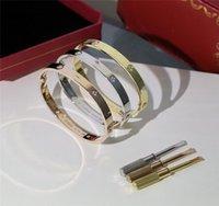 Designer de luxo amor braceletes pulseira gfb 18k banhado a ouro com bolsa de cartão de caixa original números de código original diamante