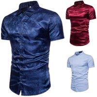 T-shirt da uomo moda Nuovo stand Collar T-shirt Personalizzazione Pulsante Obliquo Obliquo Cotton manica corta Tees Paisley Top di alta qualità Tops uomo polo camicia