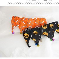 Dog Collars Leashes Adjustable Cute Grooming With Bell Party Cat Easy Wear Puppy Supplies Festival Pet Collar Halloween Casual Gift 4593 Q2