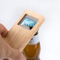 Botella de botella de botella de leña Mango de madera Sacacorchos de acero inoxidable Abrigos cuadrados Bar Accesorios de cocina Regalo de fiesta