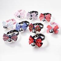 Plaid Dog Apparel Bow Collar Bell Gestreepte Strik Ketting Tie Puppy Pet Supplies