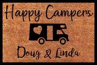 Happy Campers Doormat,Personalized Coir Door Mat ,for Home Decorative Carpets