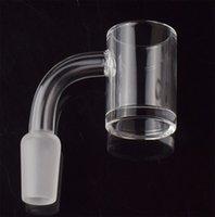 10mm 14mm 18mm smoke banger flat top 5mm thick bottom quartz nail 45 90 degrees for oil rigs glass bongs