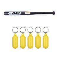 Hooks & Rails Floating Keychain Kayak Key Chain With Baseball Bat Of The Softball Bats 25-Inch Black