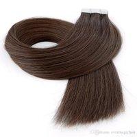 Malaysian Peruvian Brazilian Inaian Hair Tape In Human Hair Extensions 100g 40pcs Mac Makeup Extensions De Cheveux Dhgate