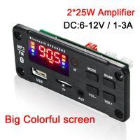 2*25W Amplifer MP3 Bluetooth 5.0 Decoding Board Module Wireless Car USB TF Card Slot   FM Remote & MP4 Players