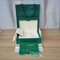 Luxo Top Quality Relógios Verdes de Alta Grade Caixa Original Cartão Certificado Big Bolsa Caixas 0.8KG para 126610 126710 124300 Assista relógios de pulso