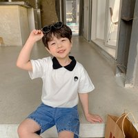 Boys polo Tees cotton short sleeve embroidery summer T shirts children fashion casual Tops 210510
