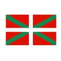 Bask Natinal Bayrak Perakende Doğrudan Fabrika Toptan 3x5fts 90x150 cm Polyester Afiş Kapalı Açık Kullanım Tuval Kafası ile Metal Grommet