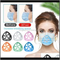 Designer Masks Housekeeping Organization Home & Garden Drop Delivery 2021 Sile 3D Bracket Face Mask Inner Support Frame For More Space To Com