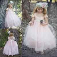 White Tulle Flower Girls Dresses Jewel Lace Applique Pleats With Sash Pageant Gown First Communion Dress