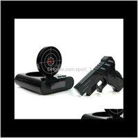 Danışma 1 Set Silah Ateş Saat Kaydedilebilir Gadget Hedef Masaüstü Dijital Başucu Sn Masa Çalar Saatler Yaratıcı Hediye Juxqf JBX1Z