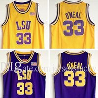 33 Shaq O'Neal Wear Ballball WeSey College LSU T Shaquille Oal Steins Vintage SHIRTS Jerseys Athletic Aparello al aire libre NCAA Tigres