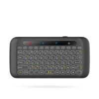 미니 무선 H20 LED 키보드 백라이트 비행 Mouses 터치 패드 에어 마우스 IR Android 스마트 TV 창을위한 원격 제어 학습