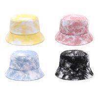 Wide Brim Hats Fisherman Female Caps Women Fashion Spring Summer Hat Reversible Multicolor Tie Dye Bucket Outdoor Beach Cotton Cap