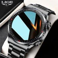 LIGE BW0239 New Bluetooth Call watch Smart watch Men And Women Full touch Fitness tracker Blood pressure Smart Clock Men smart watch