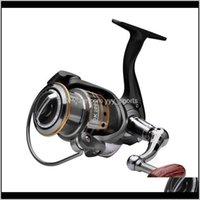 Baitcasting Reels Aluminio Aleación Luya Reel Peso ligero Accesorio de la rueda de la rueda de giro para la barra Accesorios de pesca MY58B 4R7RA