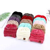Warm Women Beanies Designer Winter Hats Open Top Stretch Cable Knitted Pom Beanie Hat Womens Skullies Girl Ski Cap Ladies Bucket Baseball Caps