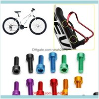 Water Aessories Cycling Sports Outdoorswater Bottles & Cages 1 Pair Bike Bottle Cage Bolts M5 Aluminium Alloy Hex Socket Tapping Screws Mtb