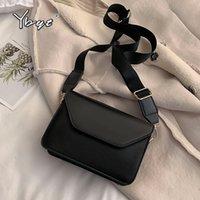 YBYT мода лоскут скрещивание сумки для женщин искусственная кожа маленькая квадратная сумка муфты повседневные плечо мешок мешок маленькие сумки 210421