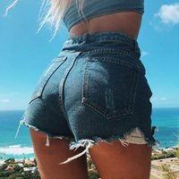 Sommer Frau Denim Shorts High Taille Ripping Jeans Mode Sexy Weibliche S-2XL Drop Damen