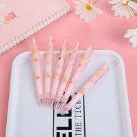 Милые прессованные ручки стационарные поставки ручки для школы нормальные офисные аксессуары журнала 0,5 сакуры канцтовары гель
