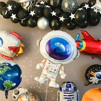 Party Decoration PAPYBAL 1pcs Astronaut Foil Balloon Space HAPPY BIRTHDAY Earth Planet Explore Protect Environment Theme Baloon