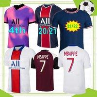Mbappe Icardi Four Soccer Jerseys 21 22 التايلاندية Maillots de football shirts 2021 2022 كين فيراتي الرجال + الاطفال كيت زي مايلوت مخصص