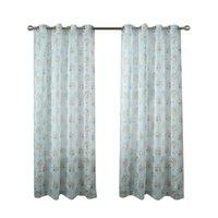 Zasłony Drapes 2021 Profesjonalne Kwiatowe Zasłony Drukowane do salonu Textured Vintage Panele okna Sypialnia Ustawianie przelotu