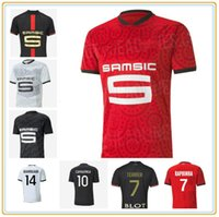 2021 120th Stade Rennais Футбол для футбола Camavinga Terrier Maillots de Feps Rennes Men Kids Set Bourigeaud Niang Hunou Футболка