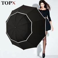 Topx grande ombrello di alta qualità uomo pioggia donna antivento grande paraguas maschio donne sole 3 pieghevole grande ombrello all'aperto parapluie 210401