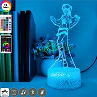 Acrylic Night Light LED 3D Illusion Nightlight USB Desk Lamp ONE PIECE Nico Robin Figure Color Change Child Birthday Gift Toy Party