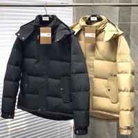 İngiliz Tarzı Ünlü Tasarımcı Lüks Erkek Aşağı Ceket Kanada Kuzey Kış Kapüşonlu Ceket Kısa Ön Uzun Geri Rahat Ve Sıcak Ceketler Erkekler Giyim Rüzgar Geçirmez M-3XL