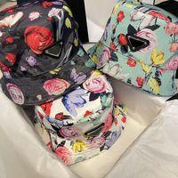 Cappello a secchiello di moda per uomo Donna Street Flower Ball Caps Attrezzature con cappelli da 8 colori con lettere di buona qualità