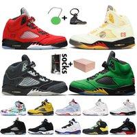 nike air jordan 5 jordan Retro 5 off white 5s Top Quality com Caixa Mens Jumpman 5 Basquetebol Shoes Fire Vermelho CetimJordan Oregon patos o que os tênis dos treinadores