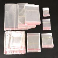 Sacs de rangement CLEAR Auto-adhésif Stick Emballage en plastique Sac d'emballage en plastique refermable Poly Sacs Poly Sacs-cadeaux100pcs par sac 568 S2