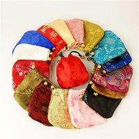 Bolsas de cordones de satén florales baratos Navidad caramelo Mini bolsas de regalo Bolsas de boda Favor de la boda Sachet 200pcs