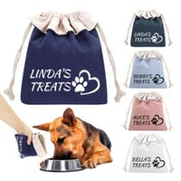 Dog Apparel Custom Pet Food Treat Bag Personalized Portable Snack Storage Bags For Dogs Outdoor Training Traveling Supplies