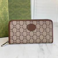 2021 Fashion flowers designer wallets luxurys Men Women leather bags High Quality Classic Letters Key coin Purse Original Box Plaid card holder