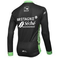 ربيع الصيف فقط ركوب الدراجات جاكيتات ملابس طويلة جيرسي روبا ciclismo 2015 bretagne-seche حجم الفريق: XS-4XL