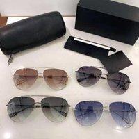 Aviación hombres gafas de sol para gafas de sol y polarizado sin marco retro clásico de gama alta de gama de gama alta para mujeres de la marca Ladyless HKKPD