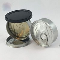 Hand Closed Strain Tin Can smart cans handed sealed smart bud jar for dry herb flower packaging Tuna Can Hoop Ring DHD7604
