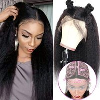 Lace Wigs Human Hair Middle Part Wig Pre Plucked Hairline For Women Brazilian Kinky Straight Remy